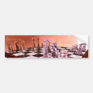 Un juego del ajedrez pegatina para auto