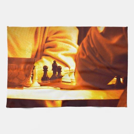 Un juego del ajedrez toalla