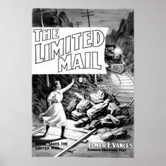 Un juego del ferrocarril - poster 1899 del correo
