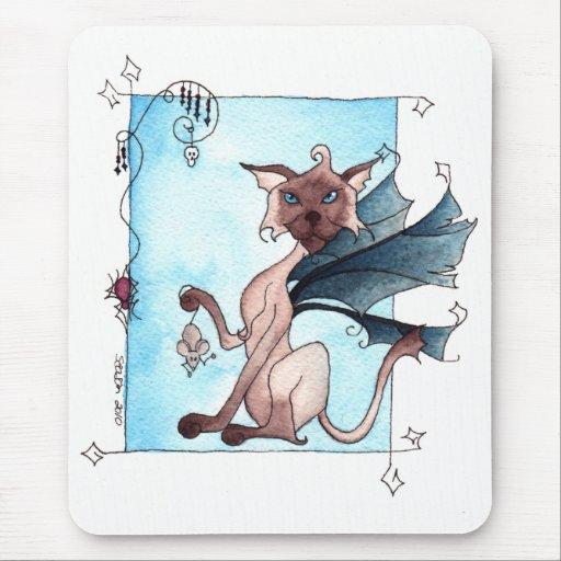 Un juego del gato y del ratón Mousepad Alfombrillas De Ratón