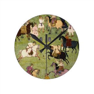 Un juego del polo, del álbum grande de Clive Reloj De Pared
