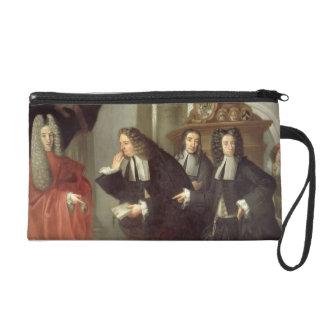 Un juez y tres abogados escuela veneciana aceite