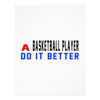 Un jugador de básquet mejora membrete