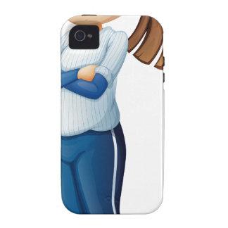 Un jugador de béisbol lindo iPhone 4/4S carcasa
