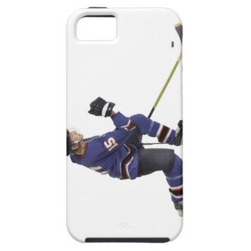 un jugador de hockey masculino caucásico adulto en funda para iPhone 5 tough