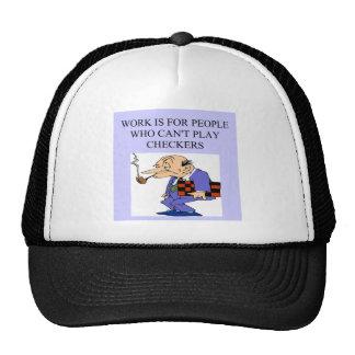 un jugador de los inspectores gorras de camionero