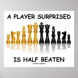 Un jugador Surprised es mitad batida (la actitud d
