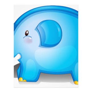 Un juguete del elefante con una bola plantilla de membrete