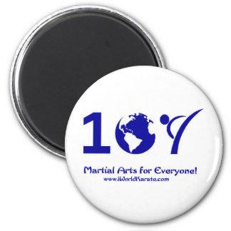 Un karate del mundo imán redondo 5 cm
