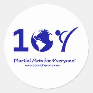 Un karate del mundo etiquetas