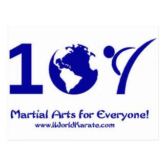 Un karate del mundo postal