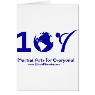 Un karate del mundo tarjeta de felicitación