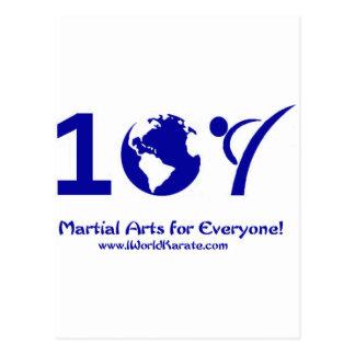 Un karate del mundo tarjetas postales