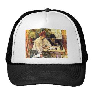 Un la Mie en el restaurante por Toulouse-Lautrec Gorras