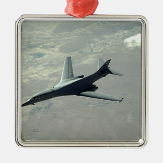Un lancero de la fuerza aérea de los E.E.U.U.B-1B Adorno Navideño Cuadrado De Metal