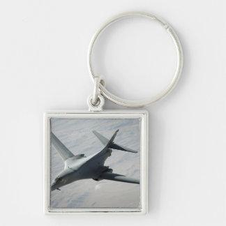 Un lancero de la fuerza aérea de los E.E.U.U.B-1B Llavero Cuadrado Plateado