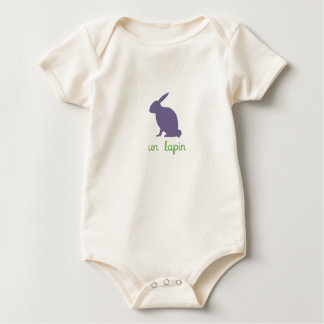 Un Lapin For Baby Baby Bodysuit