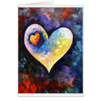 Un latido del corazón lejos tarjeta de felicitación