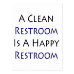 Un lavabo limpio es un lavabo feliz tarjeta postal