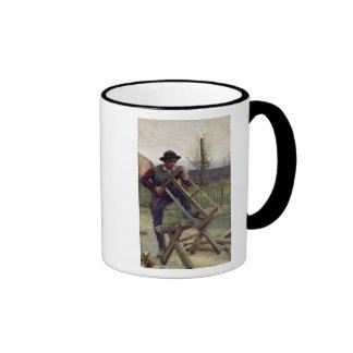 Un leñador de Aragonese, 1876 Tazas De Café