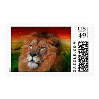 Un león del amor - sello