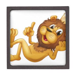 Un león del rey cajas de regalo de calidad