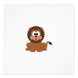 Un león dibujado sonriente marrón del dibujo arte fotografico