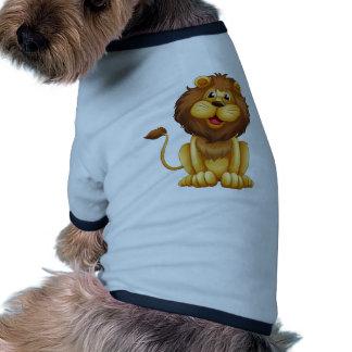 Un león feliz en una posición sentada camiseta de mascota