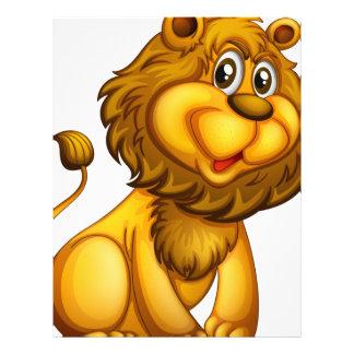 Un león joven membrete a diseño