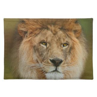 Un león majestuoso manteles individuales