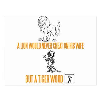 Un león nunca engañaría en su esposa postales