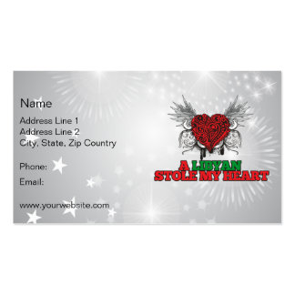 Un libio robó mi corazón tarjetas de visita