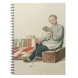 """Un librero, platea 6 """"del traje de China"""", Libros De Apuntes"""
