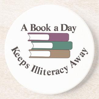 Un libro al día posavasos diseño