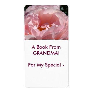 ¡Un libro de la ABUELA! Etiquetas color de rosa Etiqueta De Envío