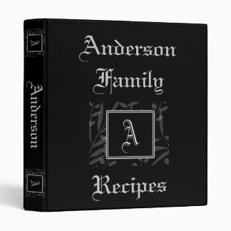 Un libro de la receta del monograma