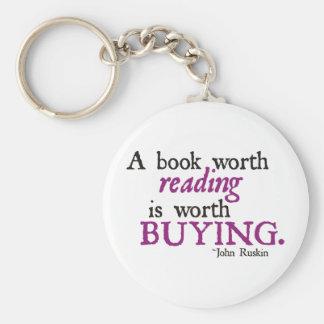 Un libro digno de la lectura vale el comprar llavero redondo tipo pin