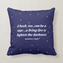 Un libro, también, puede ser una estrella almohada