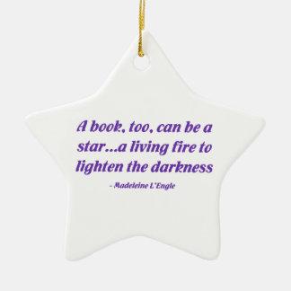 Un libro, también, puede ser una estrella adorno para reyes