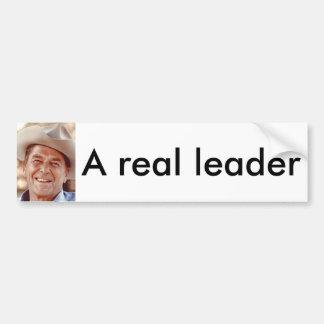 Un líder real pegatina para auto