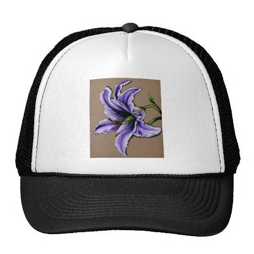 Un lirio púrpura del stargazer gorro