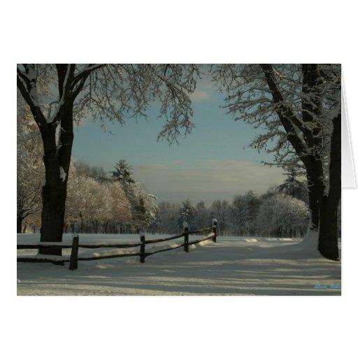 Un lj del país de las maravillas del invierno tarjeta de felicitación