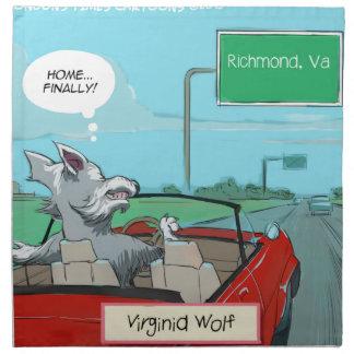 Un lobo de Virginia divertida Servilleta De Papel