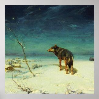 Un lobo solitario Samotny Wilk Póster