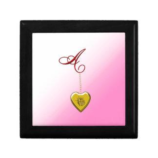 Un Locket de oro del corazón Caja De Recuerdo
