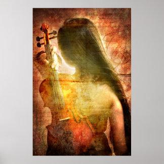 Un lugar al resto (poster del arte del violín)