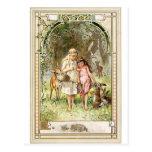 Un lugar espiritual - cuentos de hadas - blanco de tarjetas postales