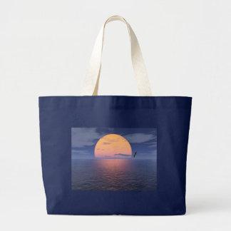 Un lugar espiritual. Puesta del sol azul Bolsas De Mano