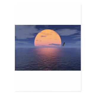 Un lugar espiritual - puesta del sol azul postales
