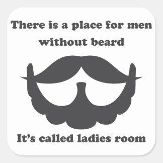 Un lugar para los hombres sin pegatina de la barba